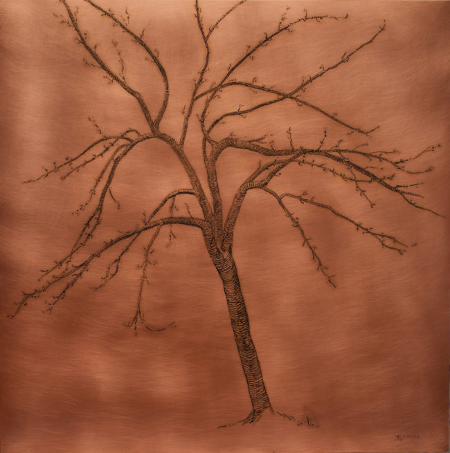 Apple Tree - 19x19 - Patina on copper - 2016-