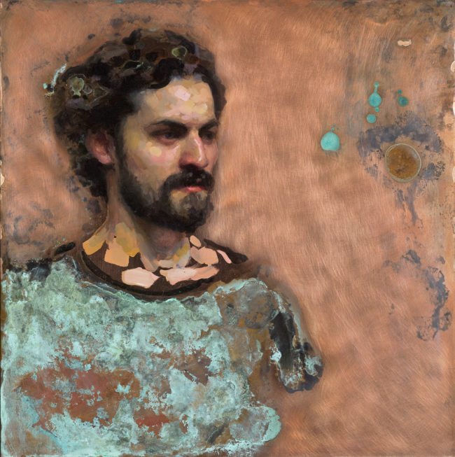 Artist Edmund Rochat - 12x12 - oil & patina on copper - 2015