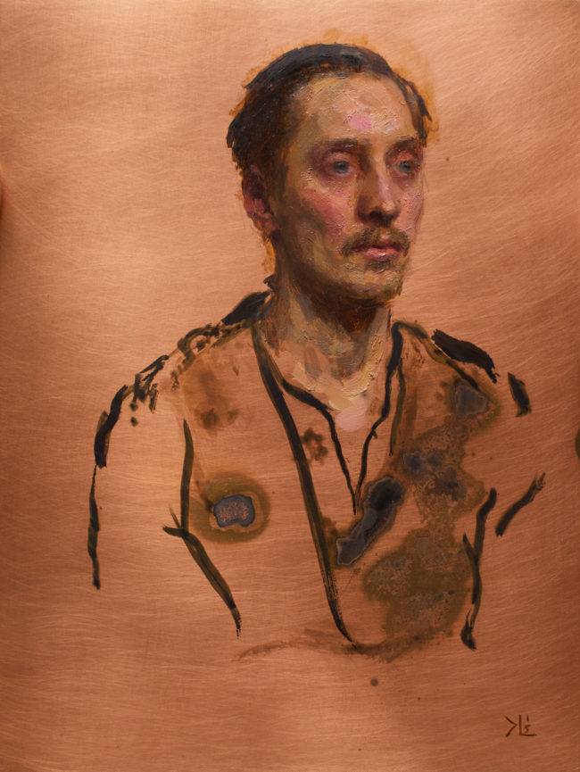 Carl - 8x6 - Oil and Patina on Copper - 2015
