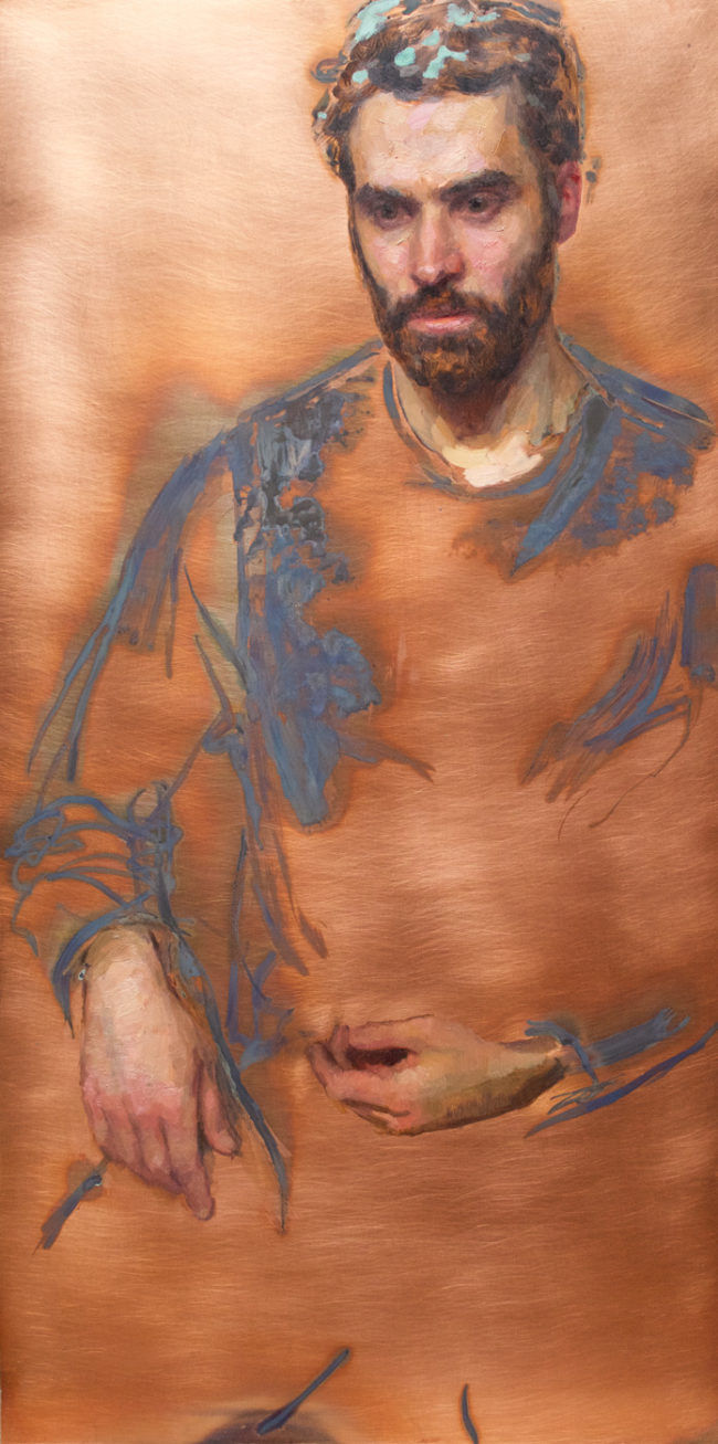 Danny Ferland - Artist - 24x12 - Oil and Patina on copper - 2015