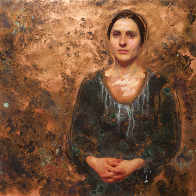 Dina Koblance - 24x24 - Oil and Patina on Copper - 2015