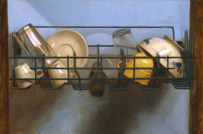 Dishwasher - 13-x-20 - oil on canvas - 2005