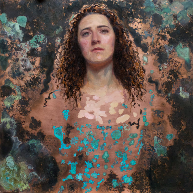 Eloise Eonnet - SeaWife - 24x24 - oil & patina on copper - 2015