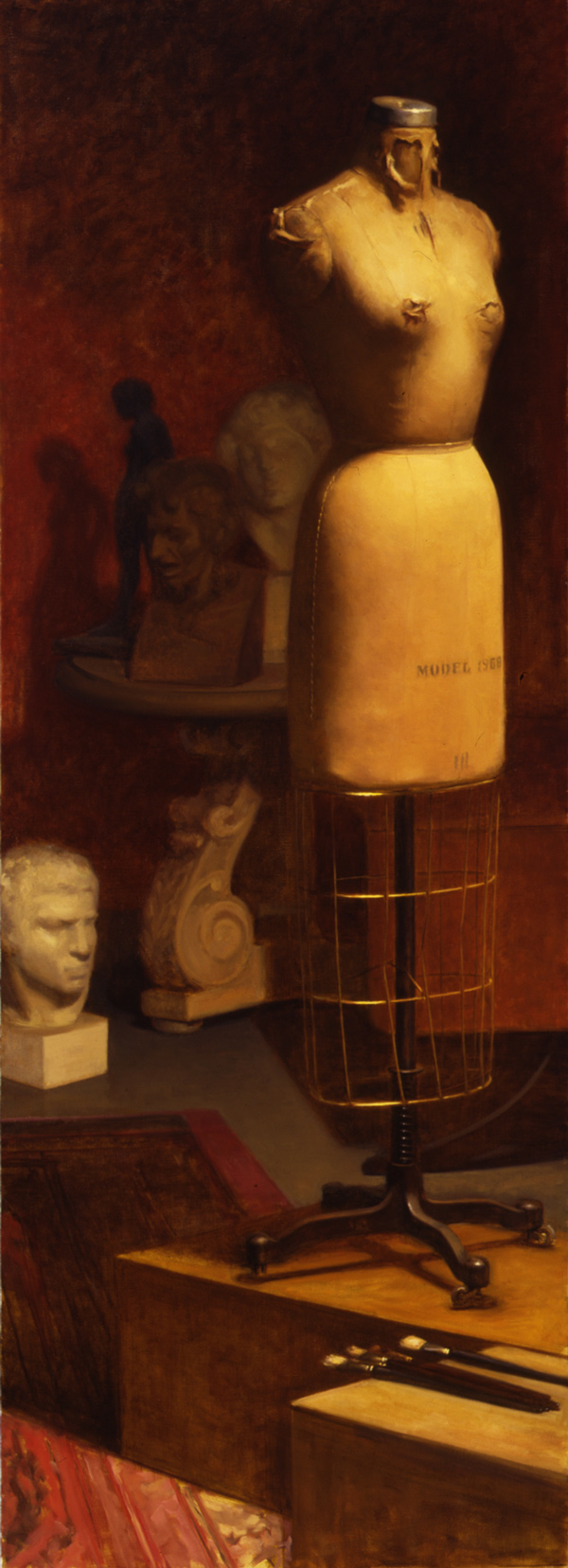 Mannequin - 66x24 - oil on canvas - 2001