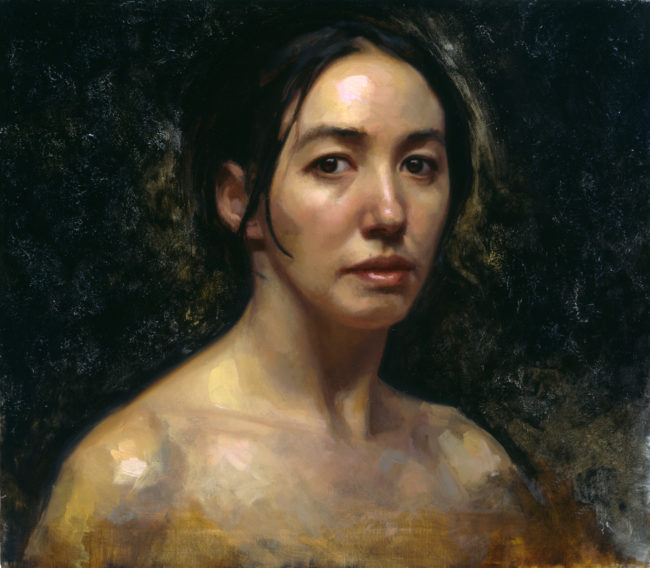Selfportrait - 14x16 - oil on canvas - 2003