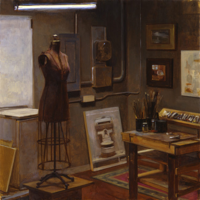 Studio Interior - 16x16 - oil on canvas - 2004
