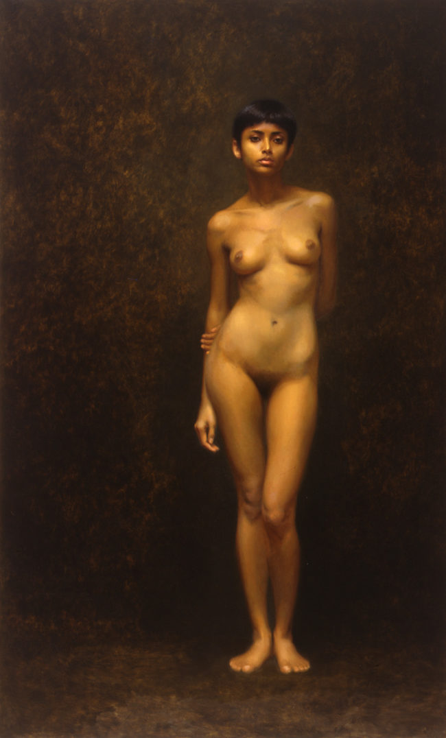 Susmita - Indian girl - 80x48 - oil on canvas - 1997