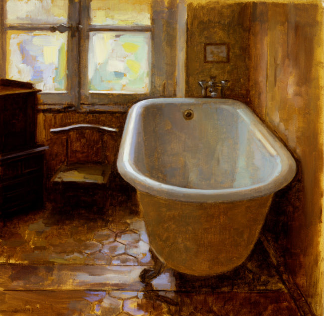 The Bathtub - 11x11 - oil on canvas - 2003