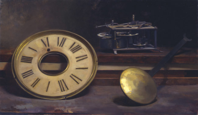 The Clock - 12x20 - oil on canvas - 2003