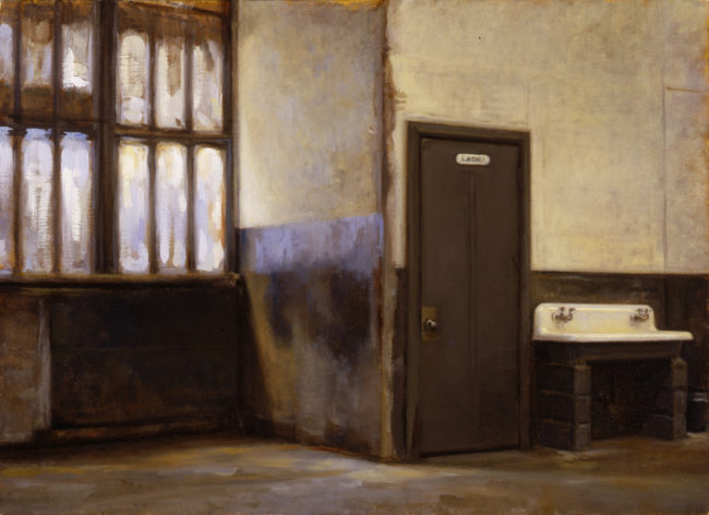 Water Street - Hallway - 16x22 - oil on canvas - 2001