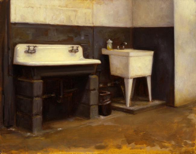 Water Street Sink - 11x14 - oil on canvas - 2001